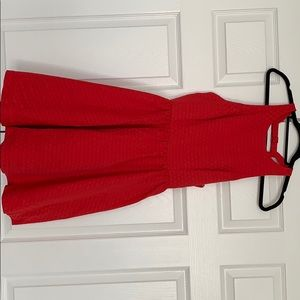 Nordstrom red dress with open back